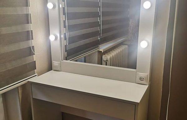 Туалетный столик с гримёрным зеркалом модель Сoгин 1(р+в)