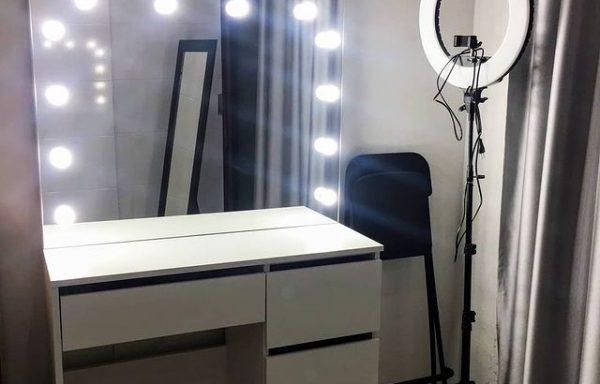 Туалетный столик soginlux с зеркалом
