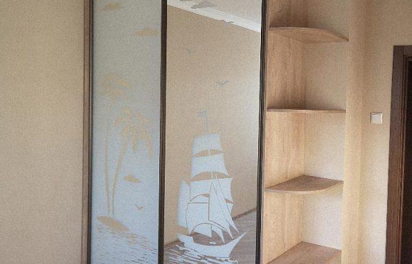 Шкаф-купе с пескоструйным рисунком Согин Люкс 20